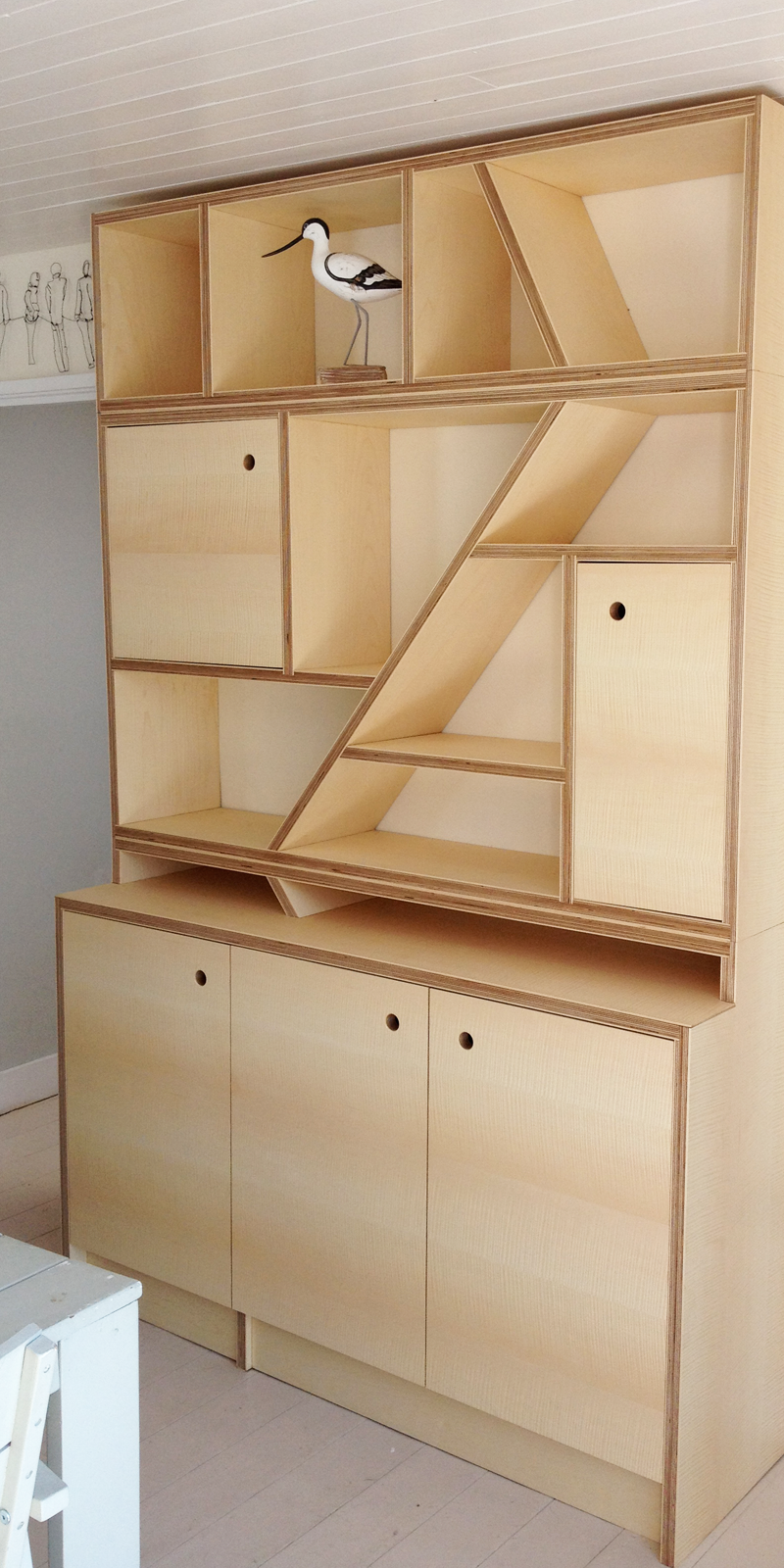 Byply Contemporary Storage Unit And Sofa Sycamore