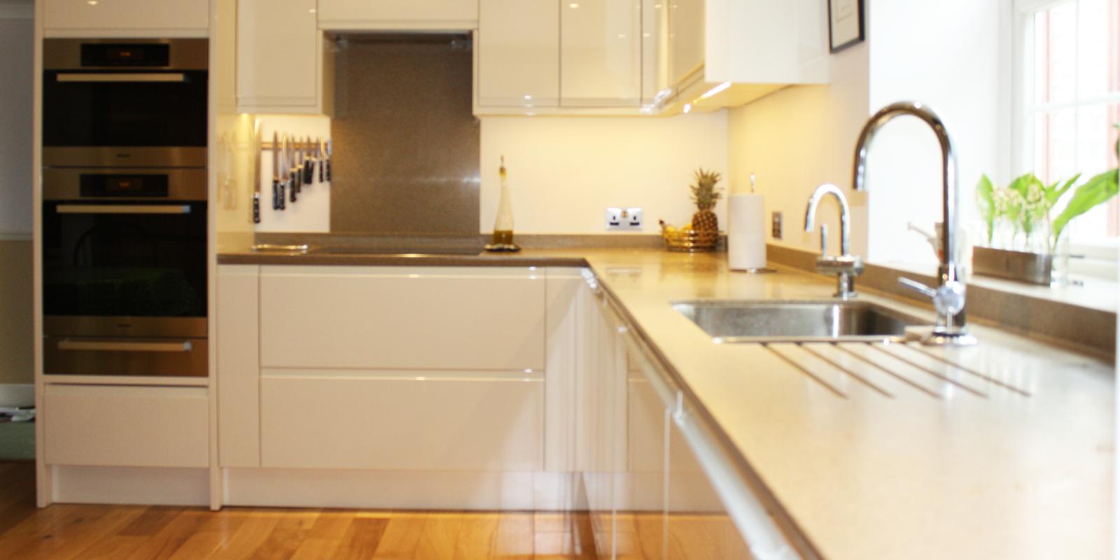 Kitchen With Oak And Beige Floor