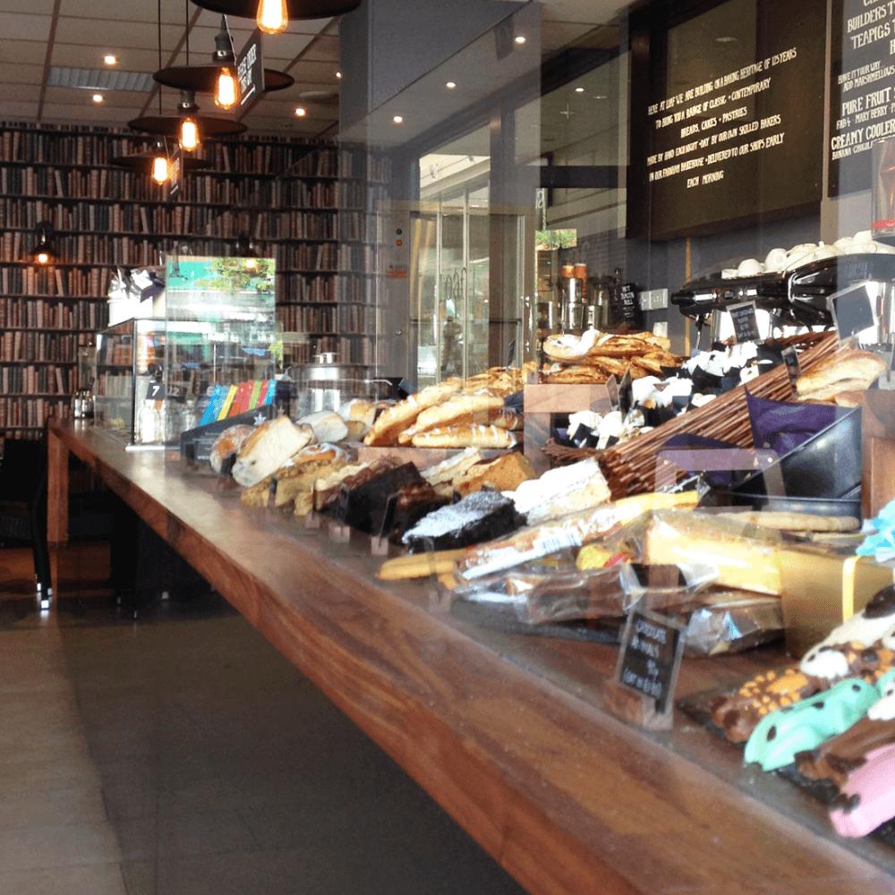Loaf Bakery walnut + black HiMacs
