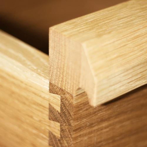 Oak dovetail bedside table