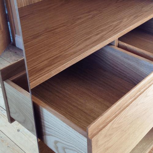Oak fitted wardrobes