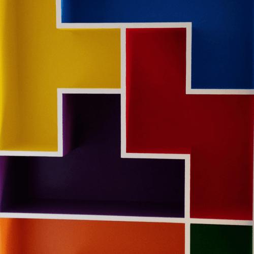 Tetris alcove shelving